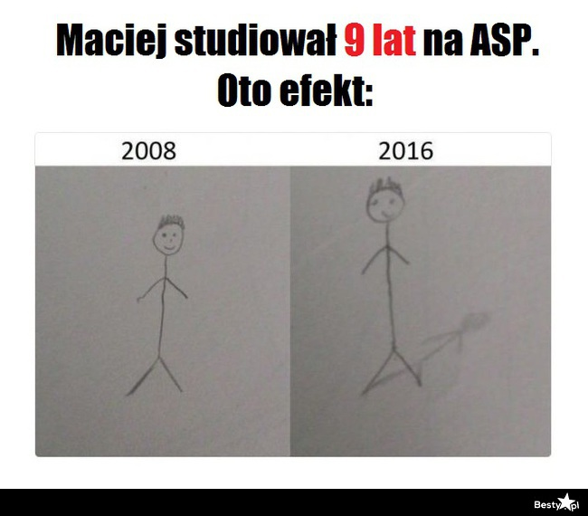Maciek studiował 9 lat na ASP. Oto efekt: