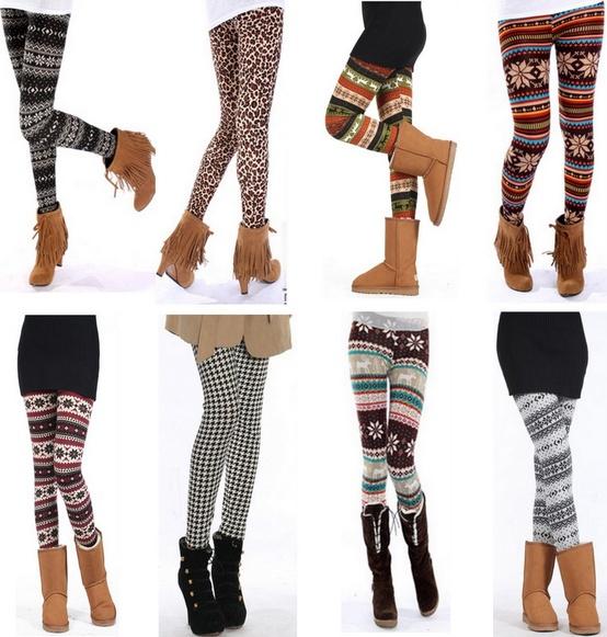Модные теплые колготки на зиму
