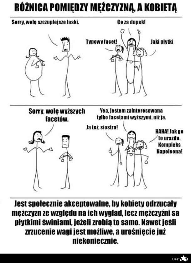 4c83045c0be73b BESTY.pl - Różnica między mężczyzną, a kobietą