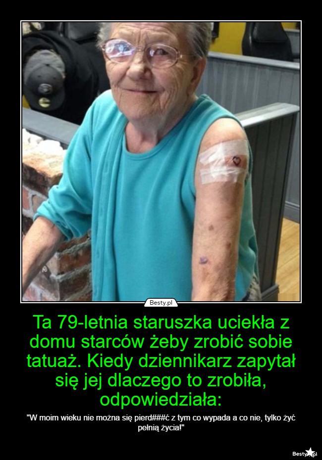 Bestypl Ta 79 Letnia Staruszka Uciekła Z Domu Starców