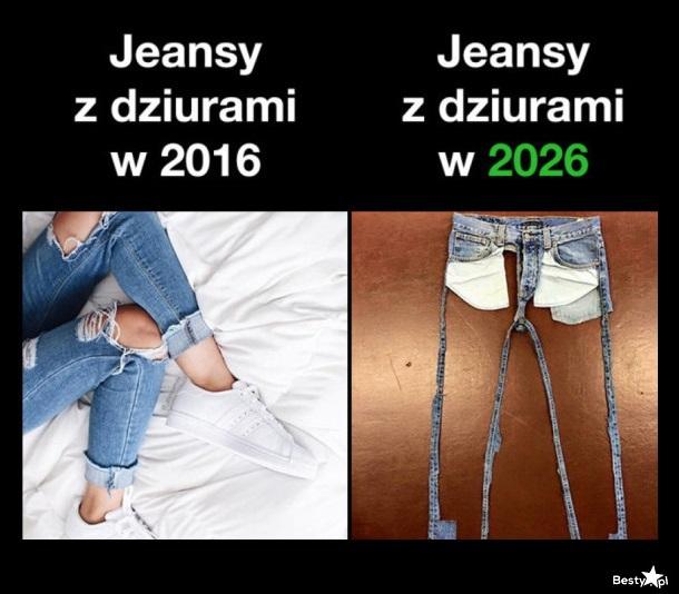 bcf99d318fe7 BESTY.pl - Jeansy z dziurami  w 2016 vs. w 2026