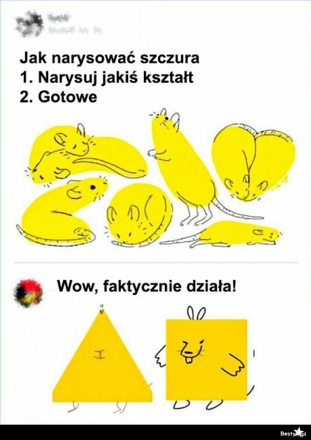 Jak narysować szczura