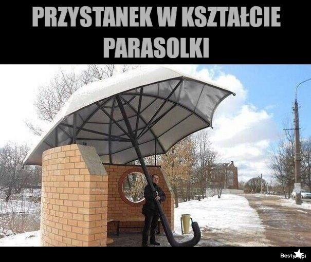 Przystanek w kształcie parasolki