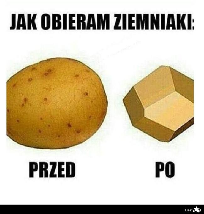 Jak obieram ziemniaki