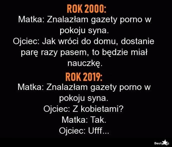 Świerszczyki - rok 2000 vs 2019