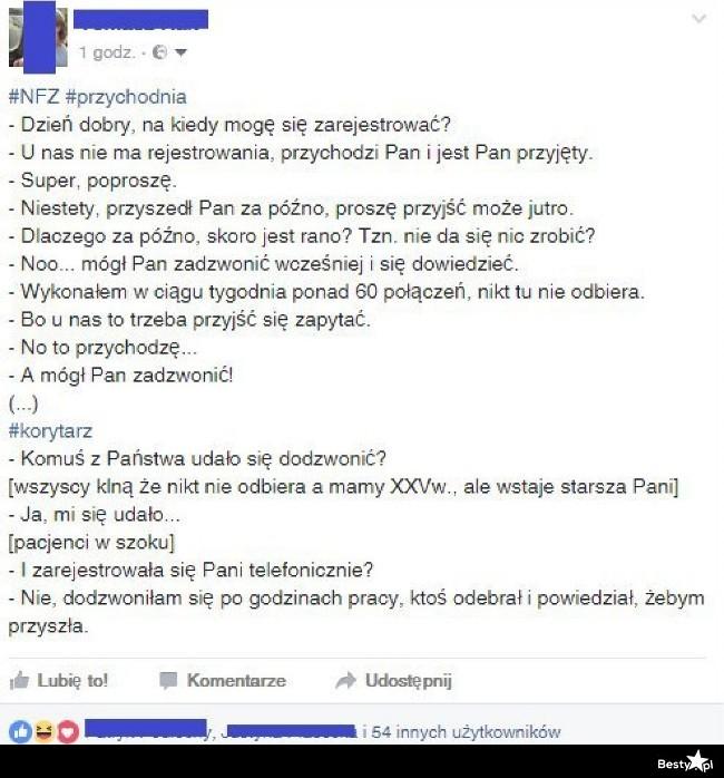 Autentyczna historia z polskiej przychodni :D