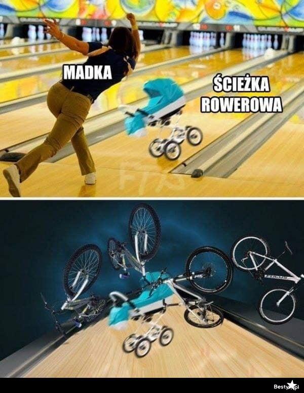 Madka i ścieżka rowerowa
