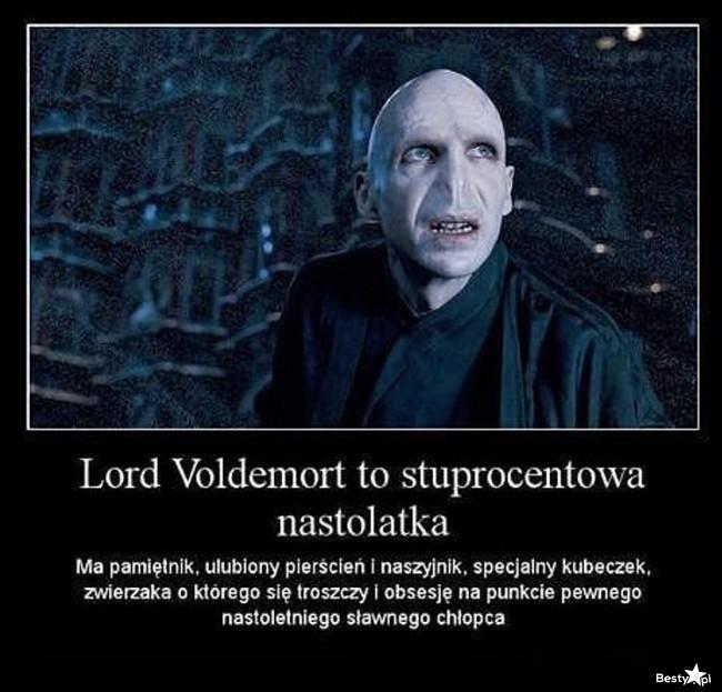 Lord Voldemort to nastolatka