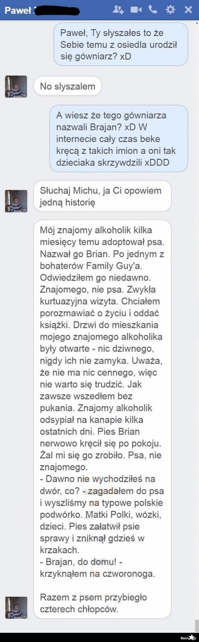 Genialna historia o Brajanie :D