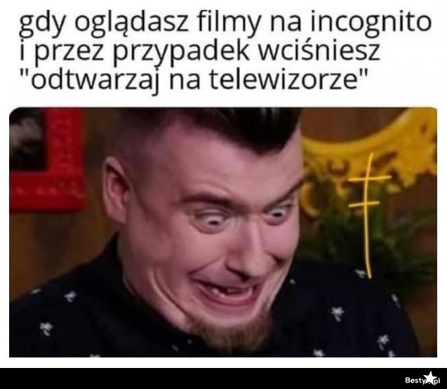 Gdy oglądasz filmy na Incognito