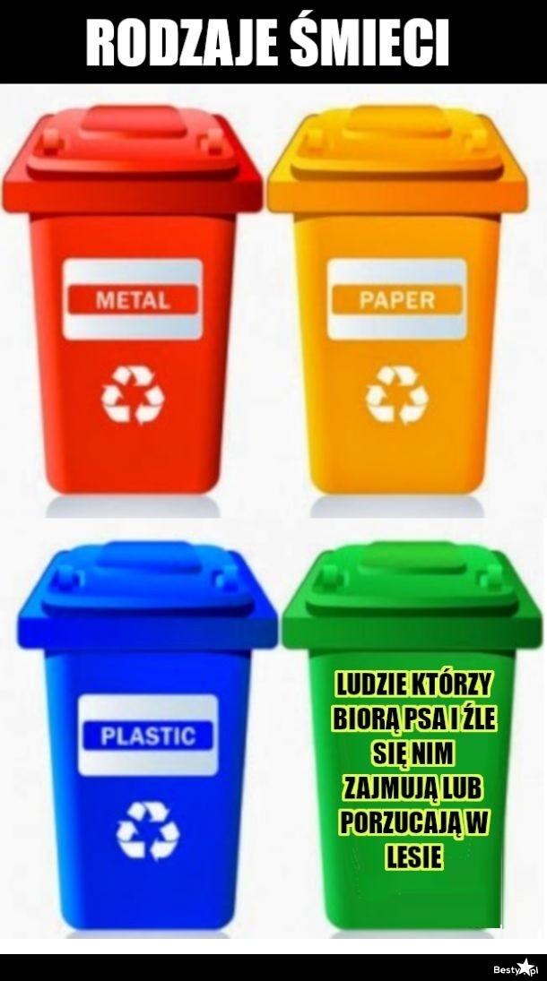 Rodzaje śmieci