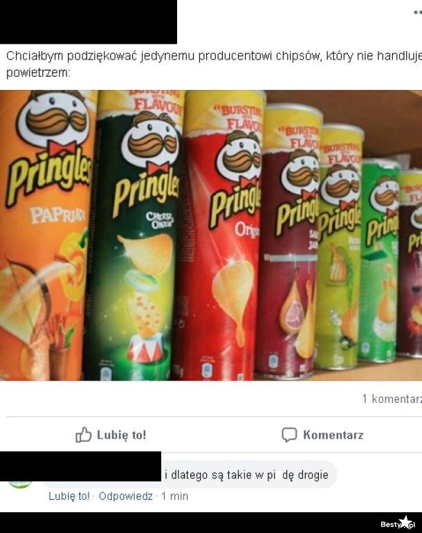 Jedyny producent chipsów który nie handluje powietrzem