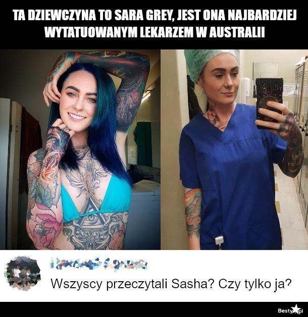 Lekarka z tatuażami