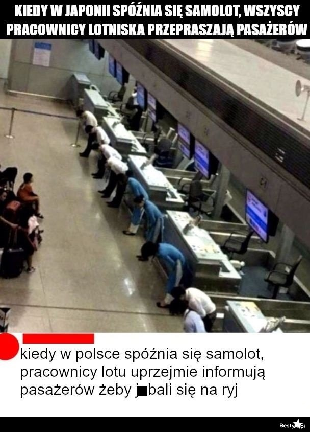 Subtelna różnica między Japonią, a Polską xD