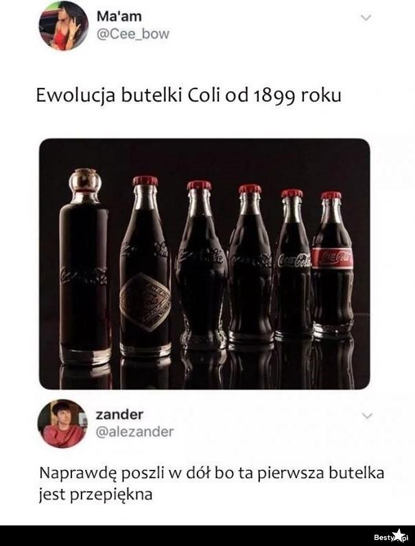 Ewolucja butelki Coli