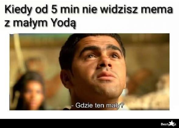 Kiedy od kilku minut nie widzisz zdjęcia z małym Yodą