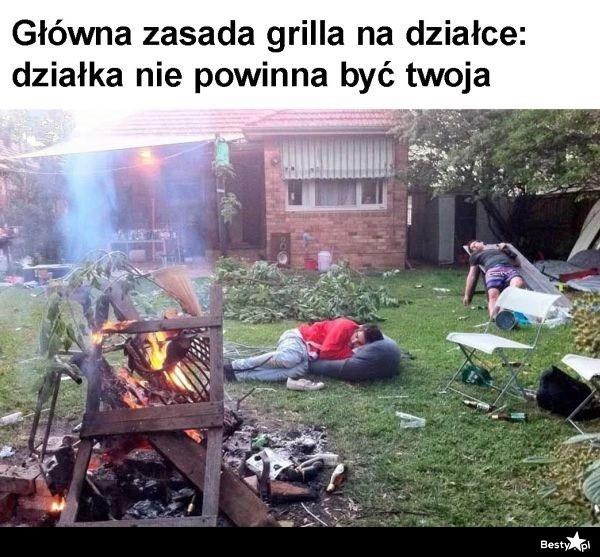 Główna zasada grilla