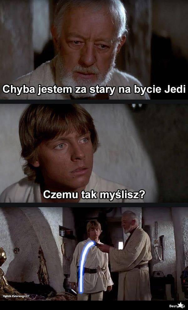 Za stary na bycie Jedi